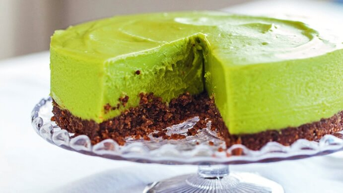 Avocado-Cheesecake von Hemsley & Hemsley; Copyright: Hemsley & Hemsley